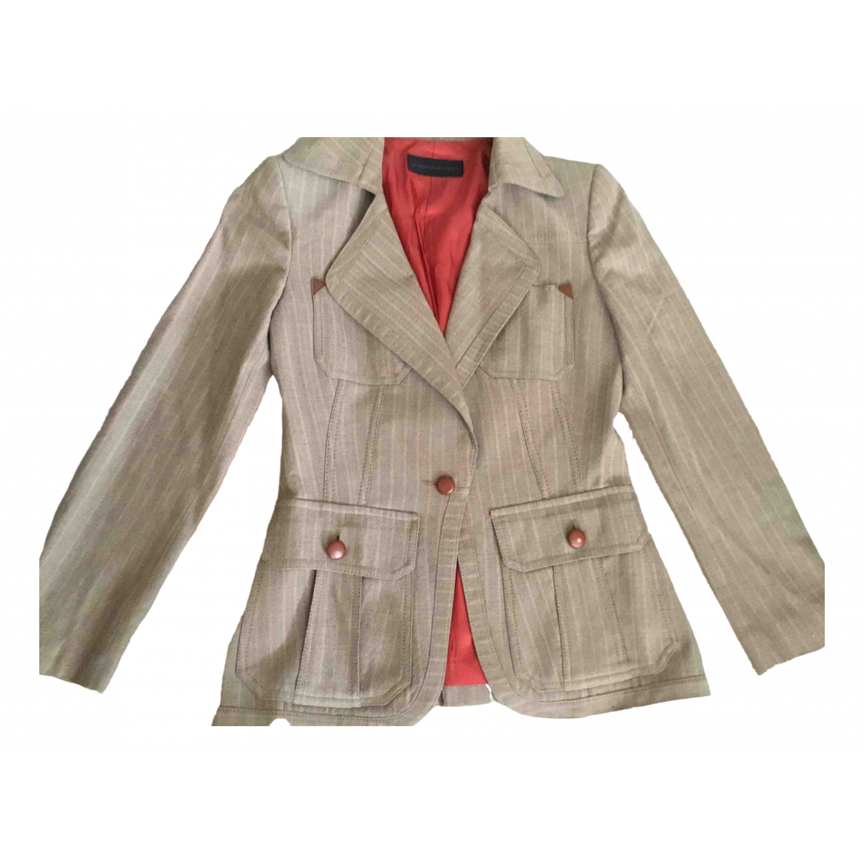 Non Signé / Unsigned \N Beige Wool jacket for Women M International