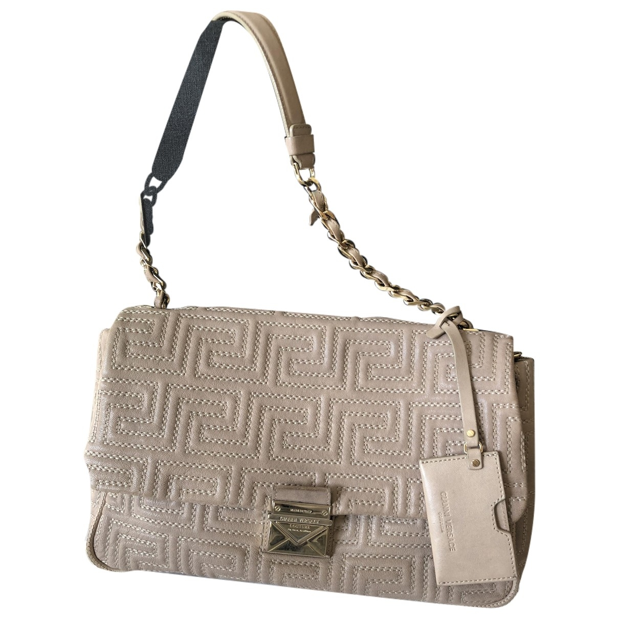 Gianni Versace - Sac a main   pour femme en cuir - beige