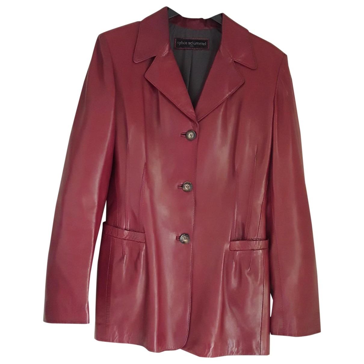 Sylvie Schimmel \N Red Leather jacket for Women 38 FR