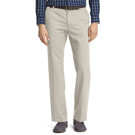 IZOD American Chino Mens Straight Fit, 38 30, Gray