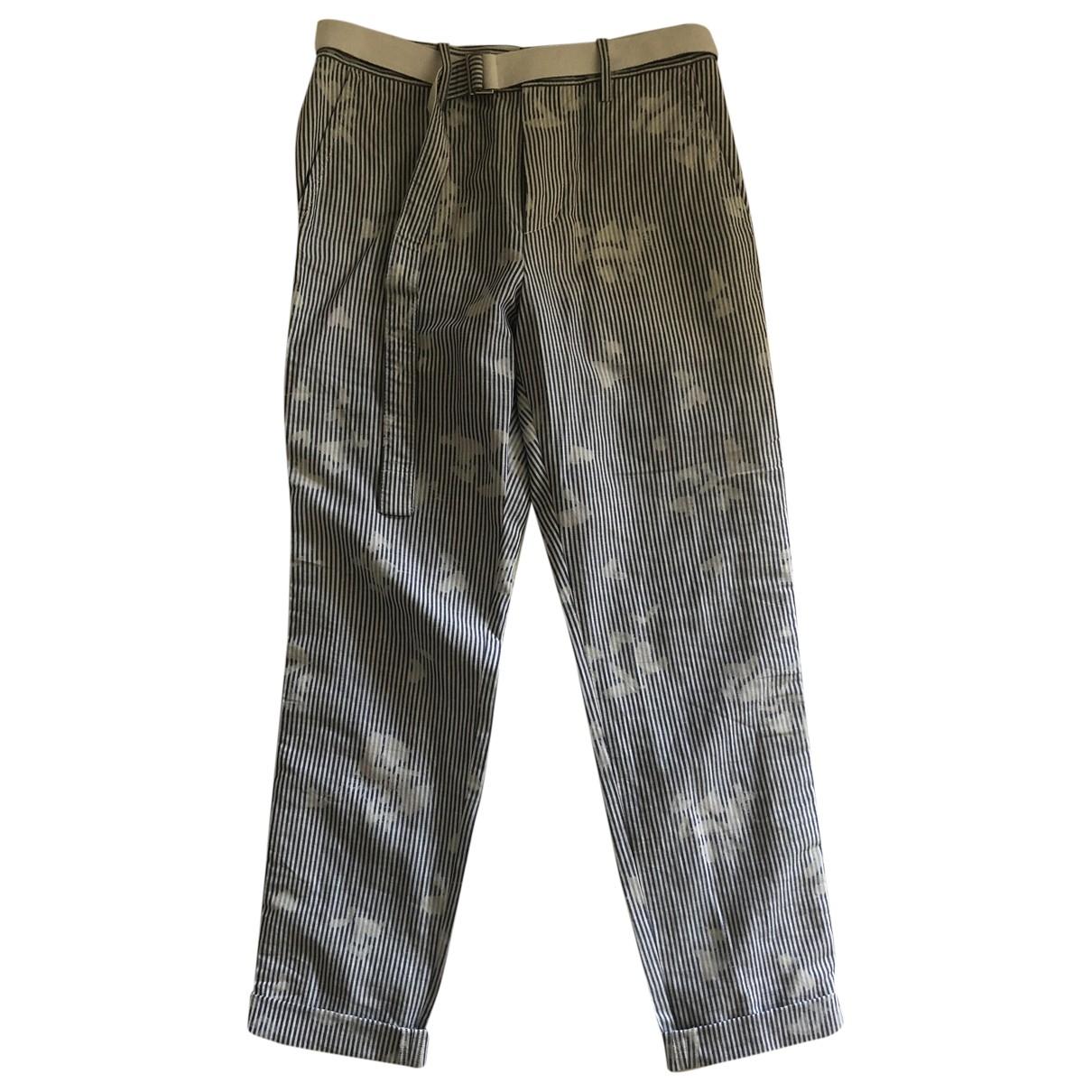 Sacai \N Blue Cotton Trousers for Men S International