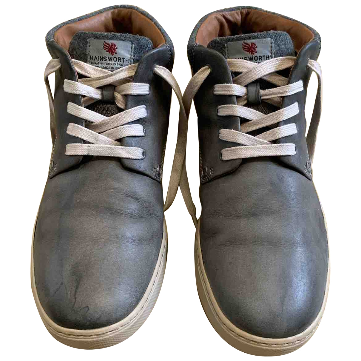 Clarks \N Grey Leather Boots for Men 43 EU