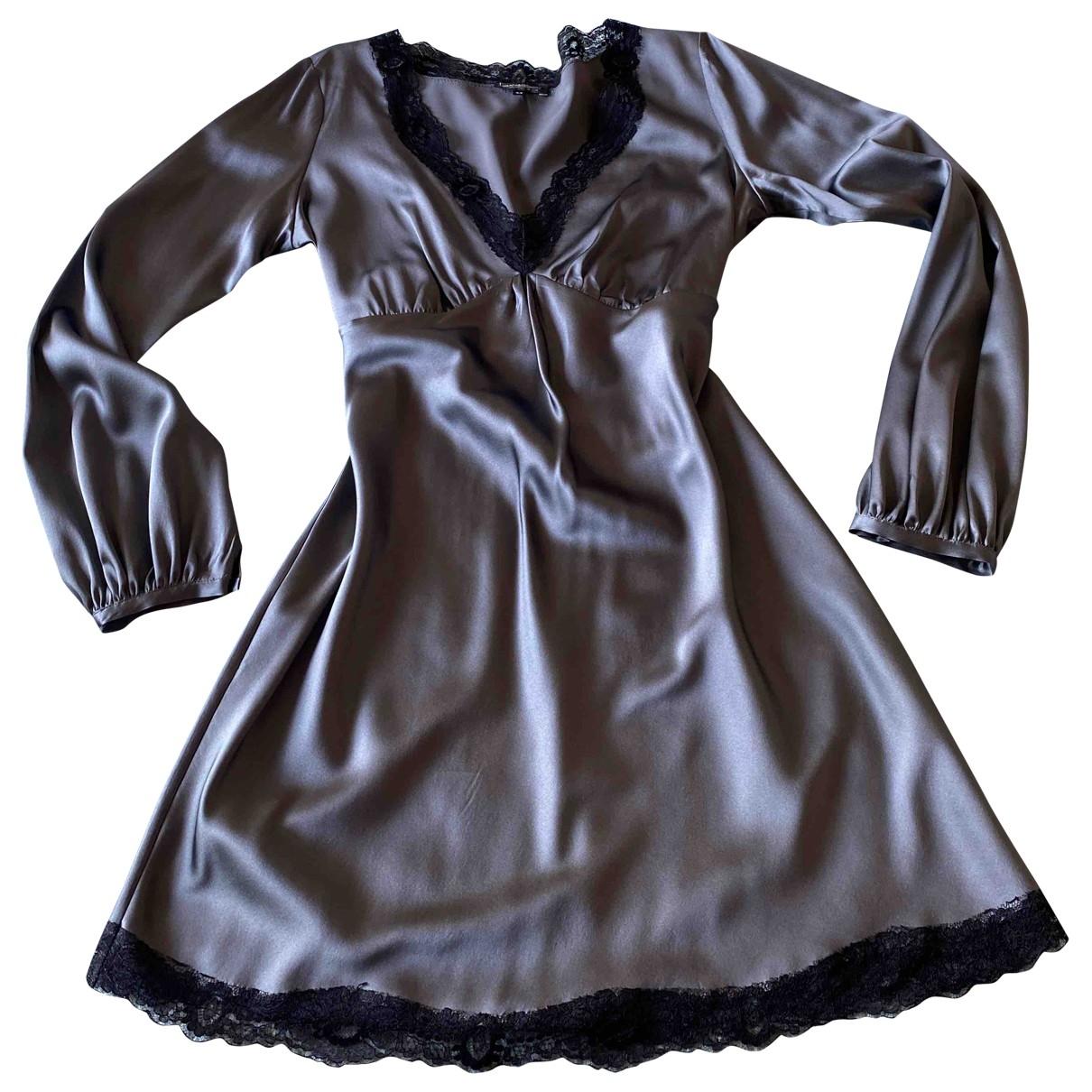 - Robe   pour femme en soie - gris