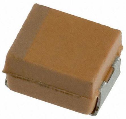 AVX Tantalum Capacitor 10μF 6.3V dc Electrolytic Solid ±10% Tolerance , TAJ (2000)