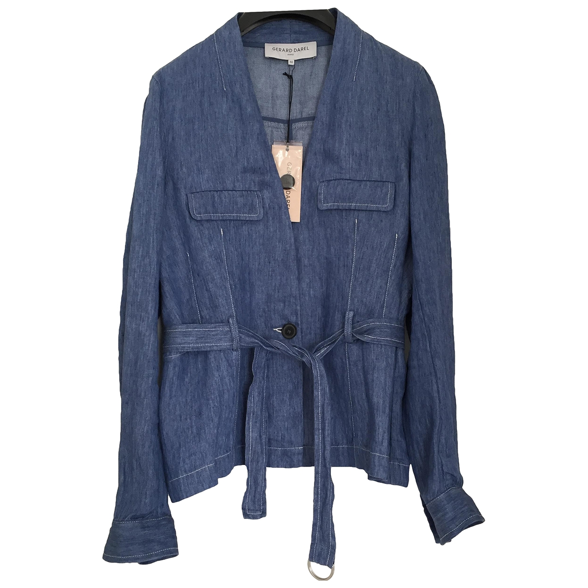 Gerard Darel \N Blue Linen jacket for Women 40 FR