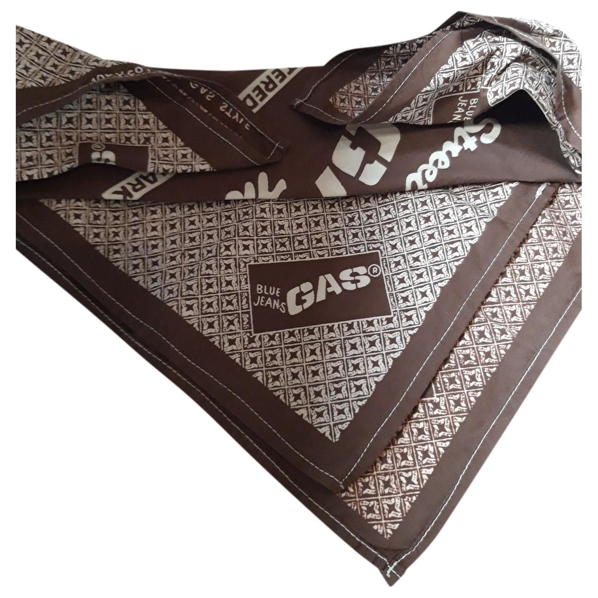 Gas \N Brown Cotton scarf & pocket squares for Men \N