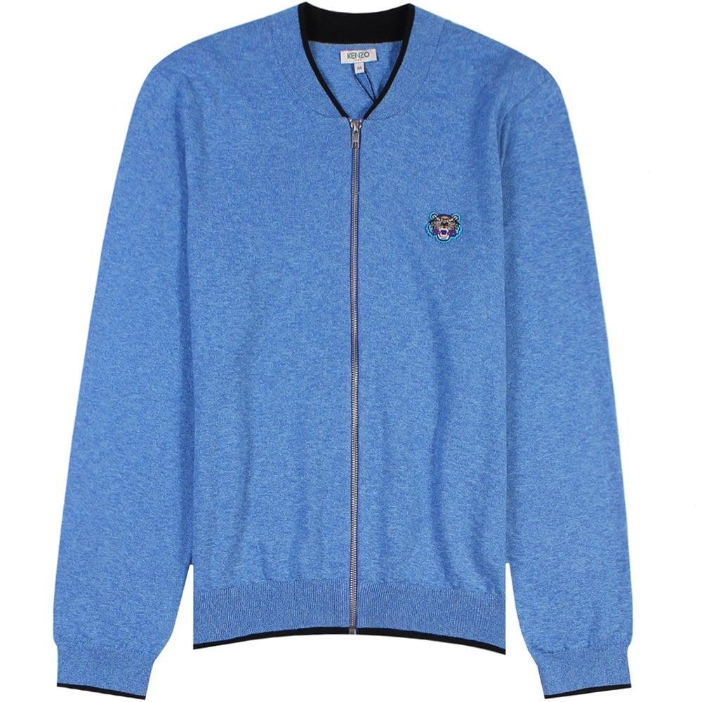 Kenzo Small Tiger Logo Cardigan Colour: LIGHT BLUE, Size: EXTRA LARGE