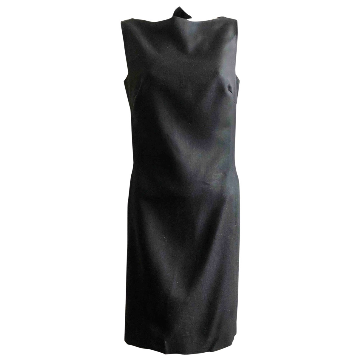 Ralph Lauren \N Kleid in  Schwarz Wolle