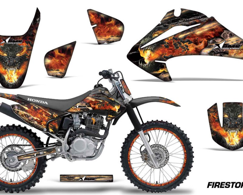 AMR Racing Dirt Bike Graphics Kit Decal Wrap For Honda CRF150 | CRF230F 2003-2007áFIRESTORM BLACK