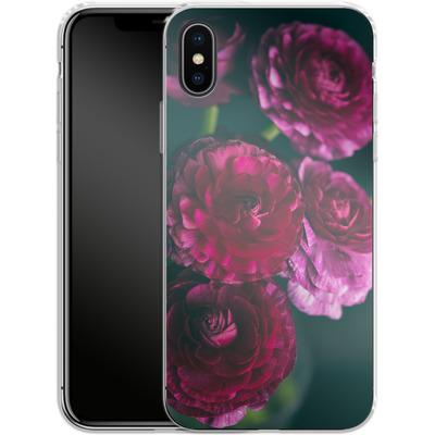 Apple iPhone X Silikon Handyhuelle - Purple Ranunculus 2 von Joy StClaire