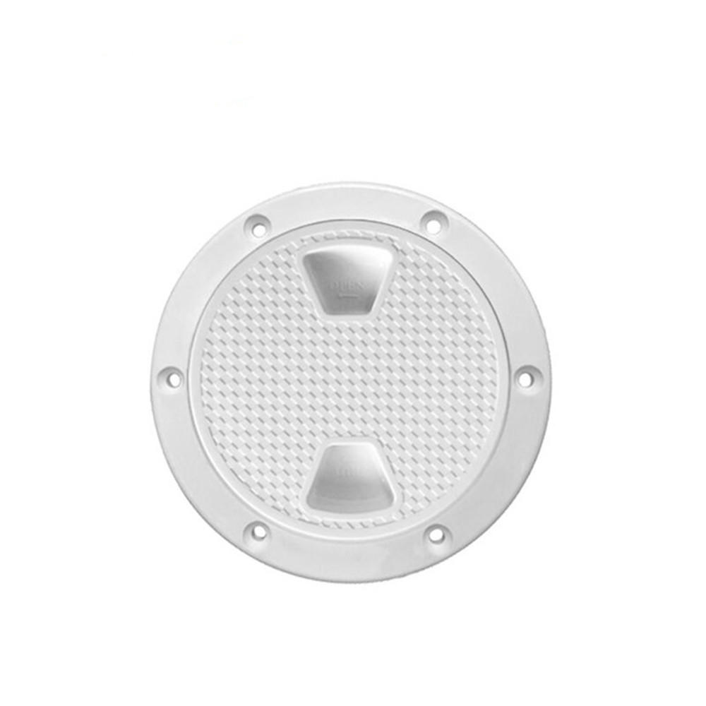 BSET MATEL 4Inch Inspection Deck Plate Hatch Marine Boat Yacht Detachable Cover RV Plastic