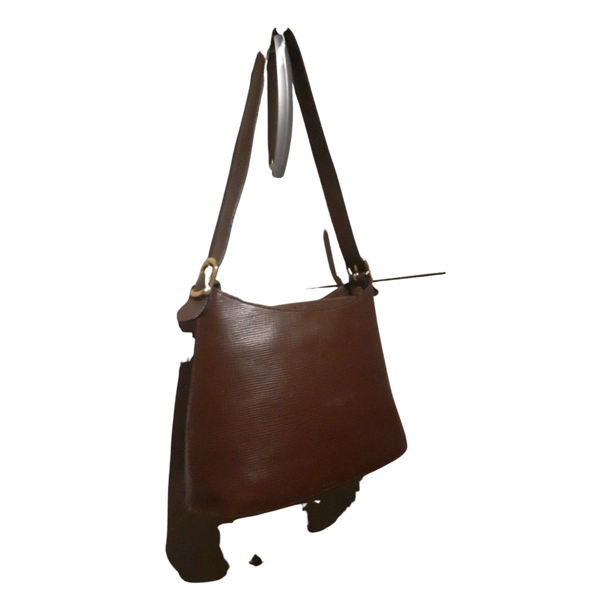 Lancaster N Brown Leather handbag for Women N