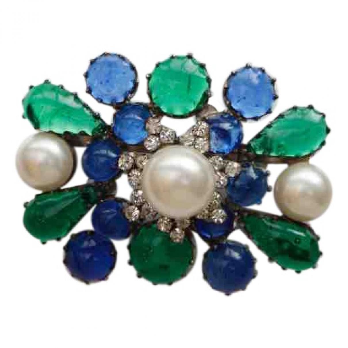 Chanel - Broche   pour femme en verre - vert