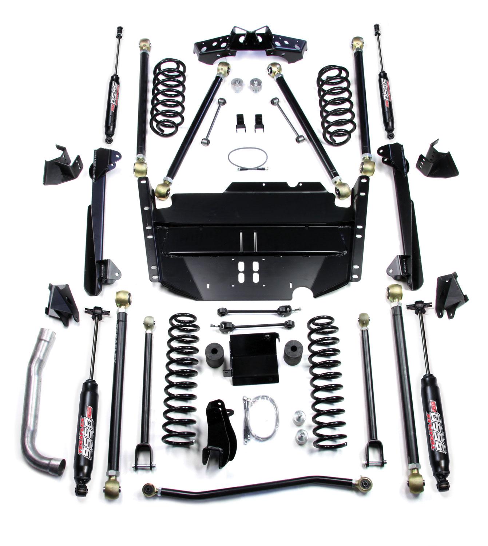 Jeep TJ 5 Inch Pro LCG Long Flexarm Suspension System w/ 9550 Shocks 97-06 Wrangler TJ TeraFlex 1249575