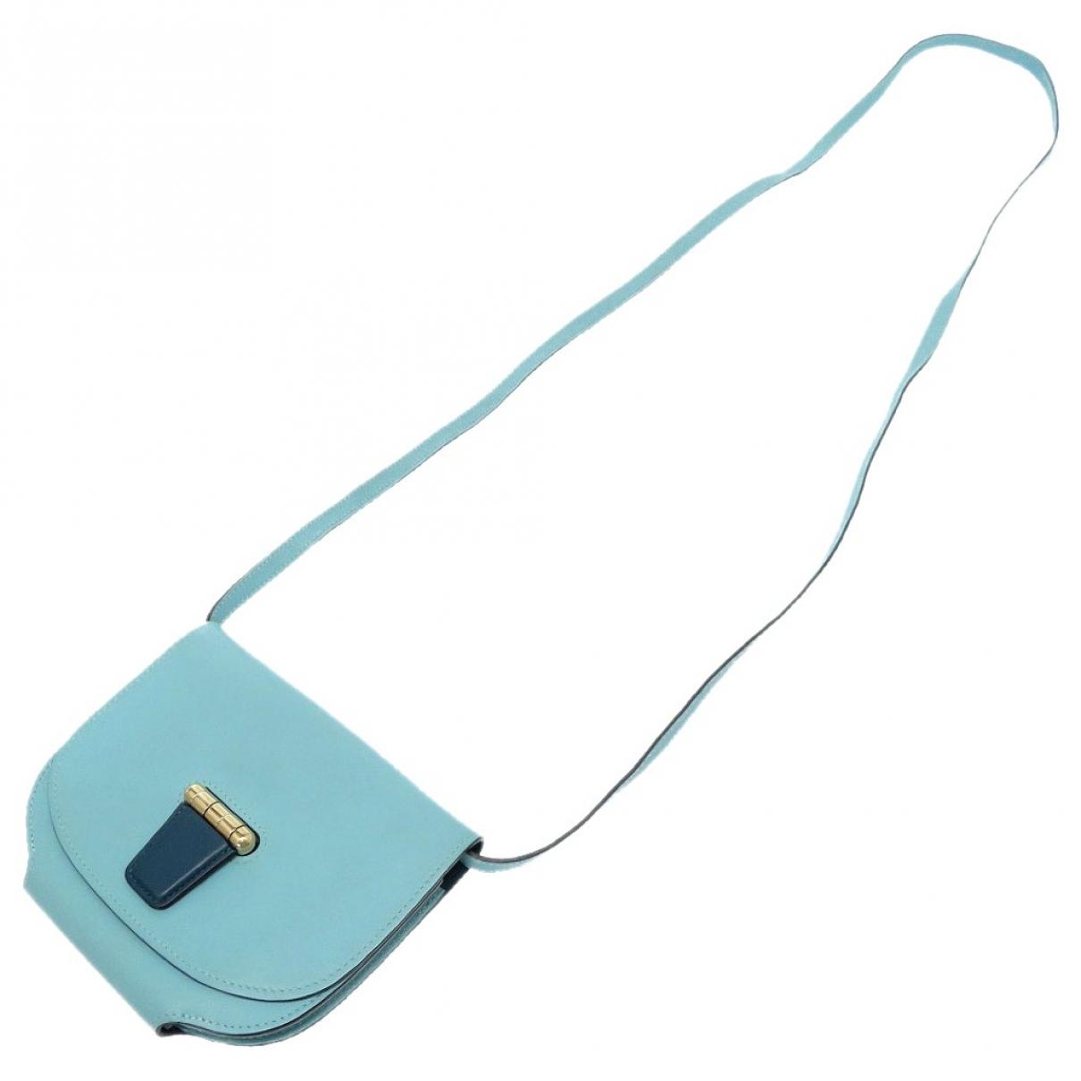 Hermes Convoyeur Handtasche in  Blau Leder