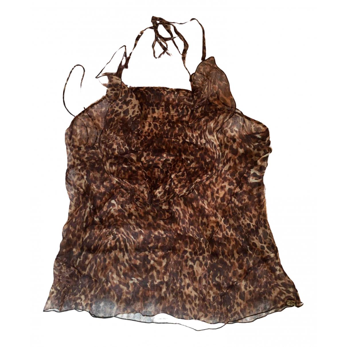 Sonia Rykiel - Top   pour femme en soie - marron