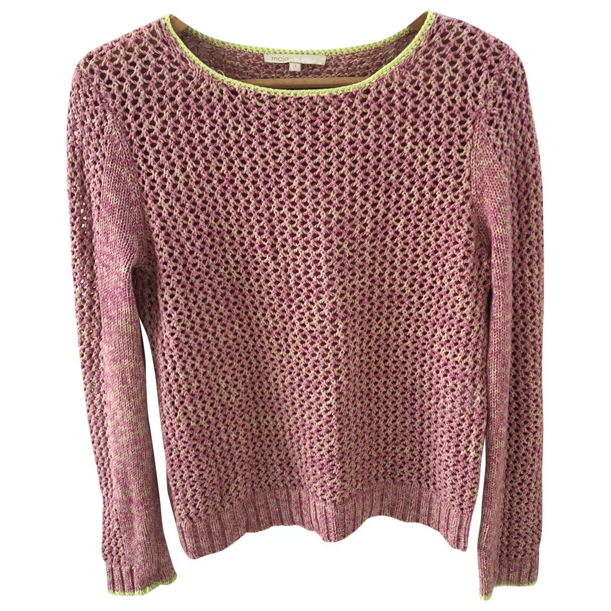 Maje - Pull   pour femme en coton - rose