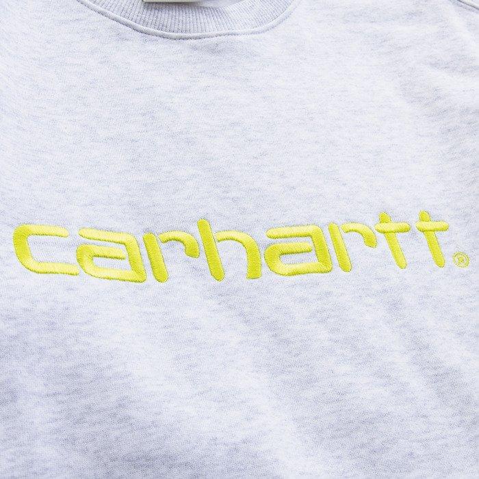 Carhartt WIP W' Sweatshirt I027475 ASH HEATHER/LIME
