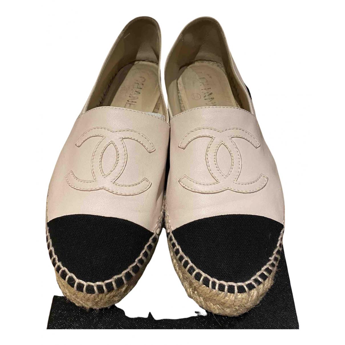 Chanel \N Espadrilles in  Rosa Leder
