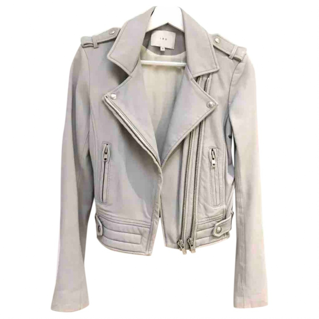 Iro \N Grey Leather jacket for Women 36 FR