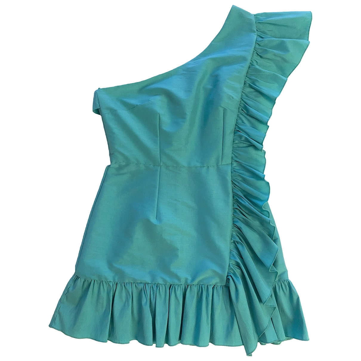 Non Signe / Unsigned \N Kleid in  Tuerkis Polyester