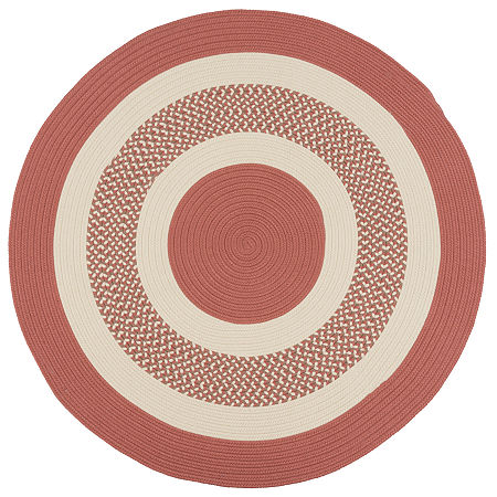 Colonial Mills Lighthouse Reversible Braided Indoor/Outdoor Round Rug, One Size , Red