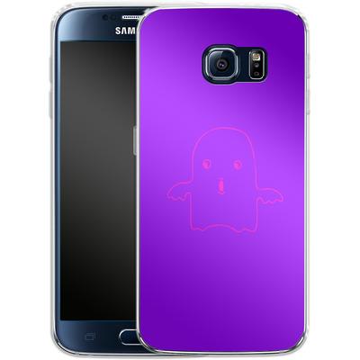 Samsung Galaxy S6 Silikon Handyhuelle - Cute Ghost von caseable Designs