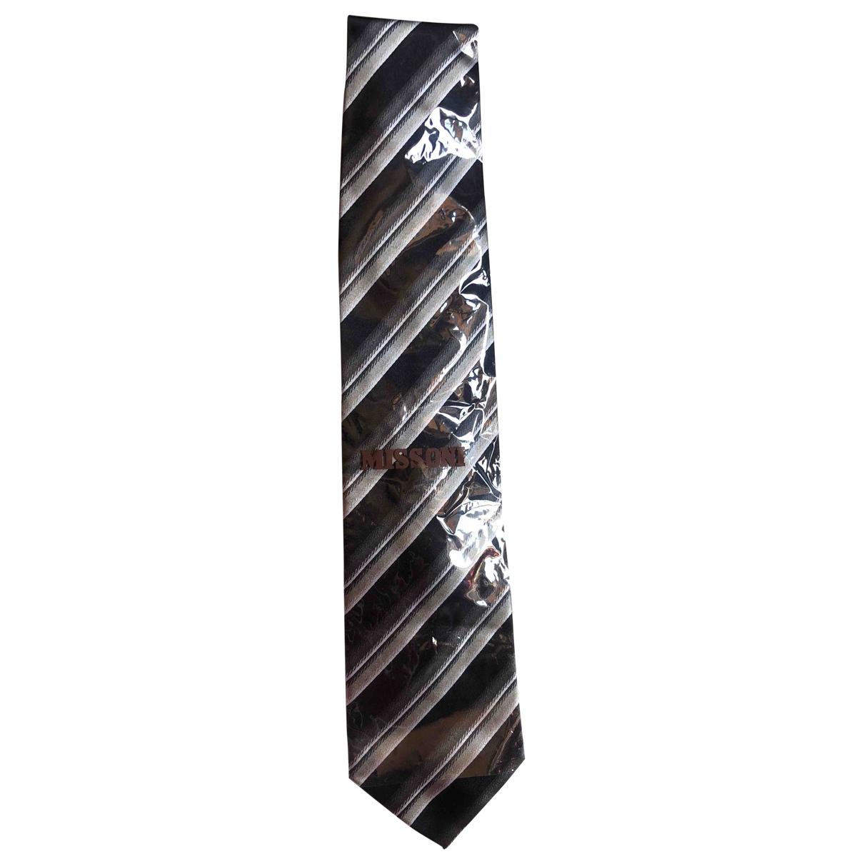 Missoni - Cravates   pour homme en soie - gris