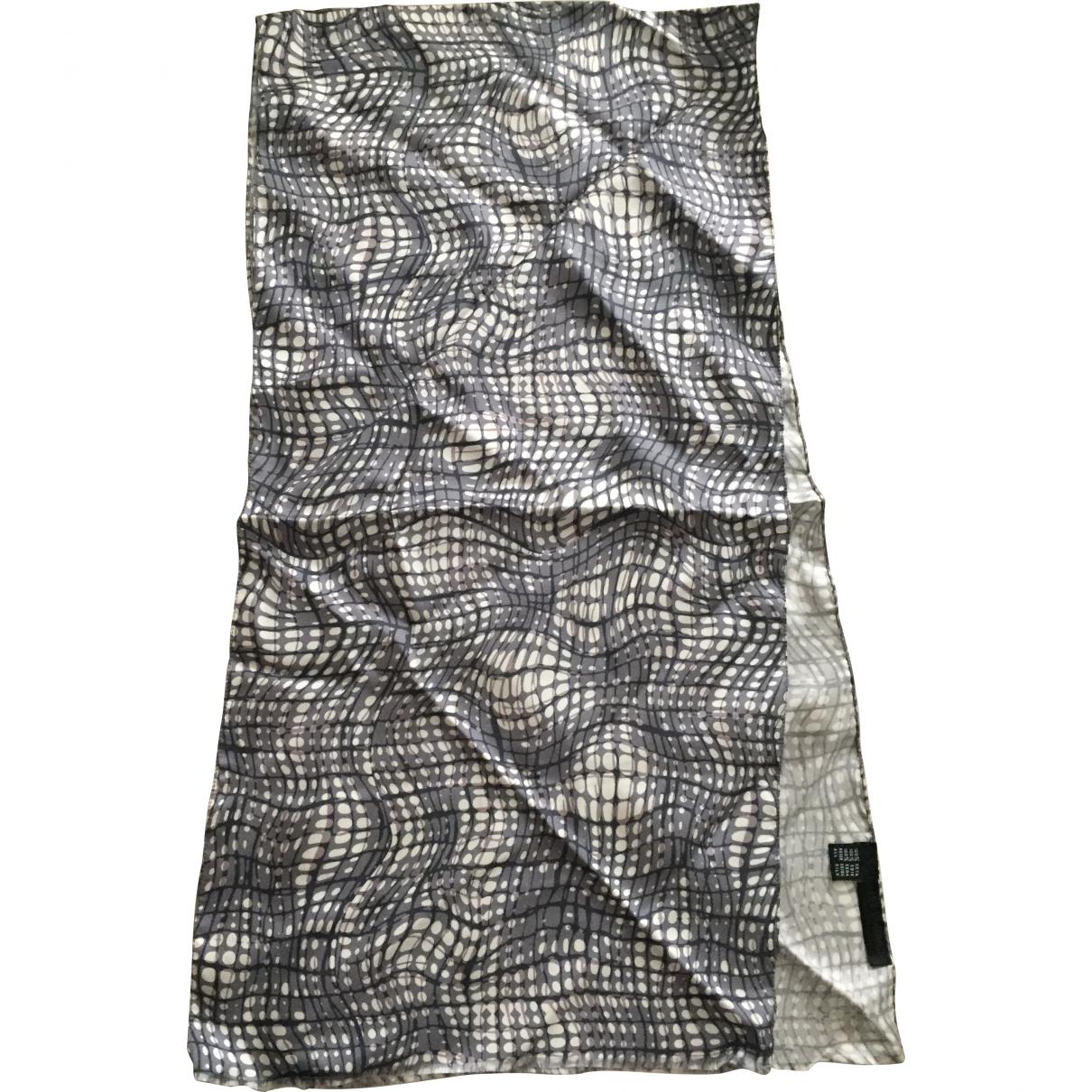Les Hommes - Cheches.Echarpes   pour homme en soie - gris