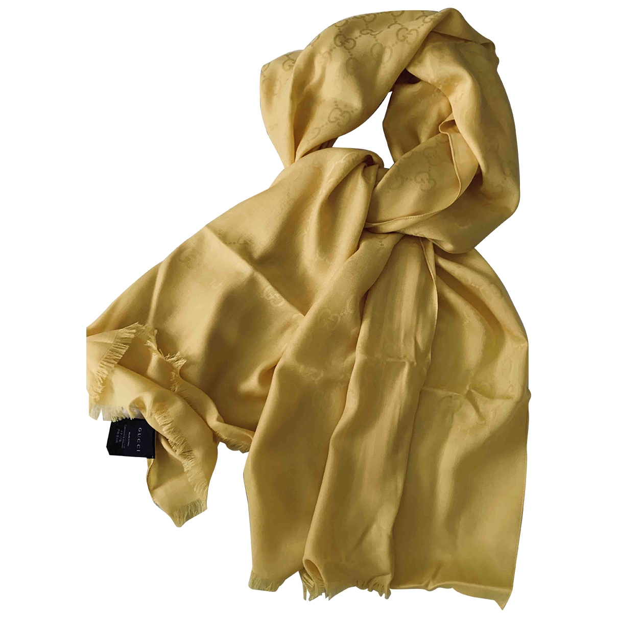 Gucci \N Yellow Silk scarf for Women \N