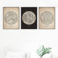 1pc Moon Pattern Wall Print Without Frame