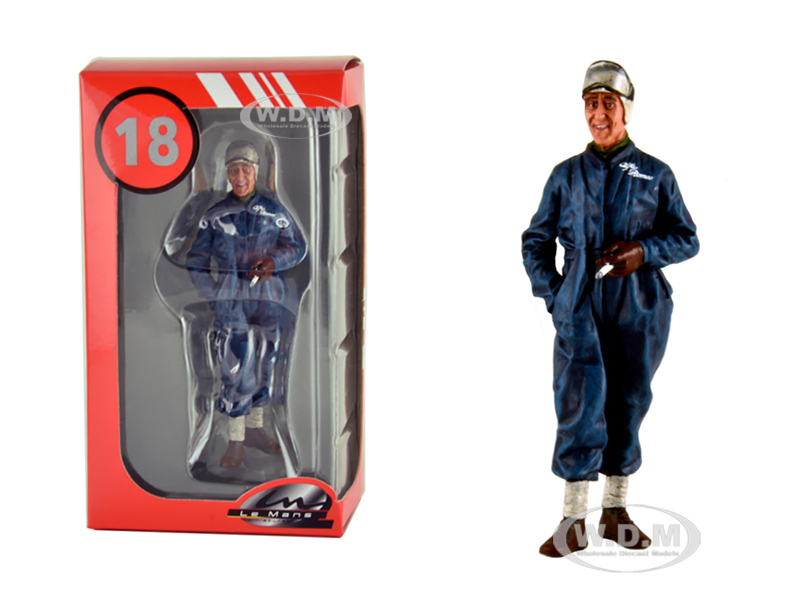 Tazio Nuvolari Alfa Romeo 1933 Le Mans Figurine for 1/18 Model Cars by Lemans Miniatures