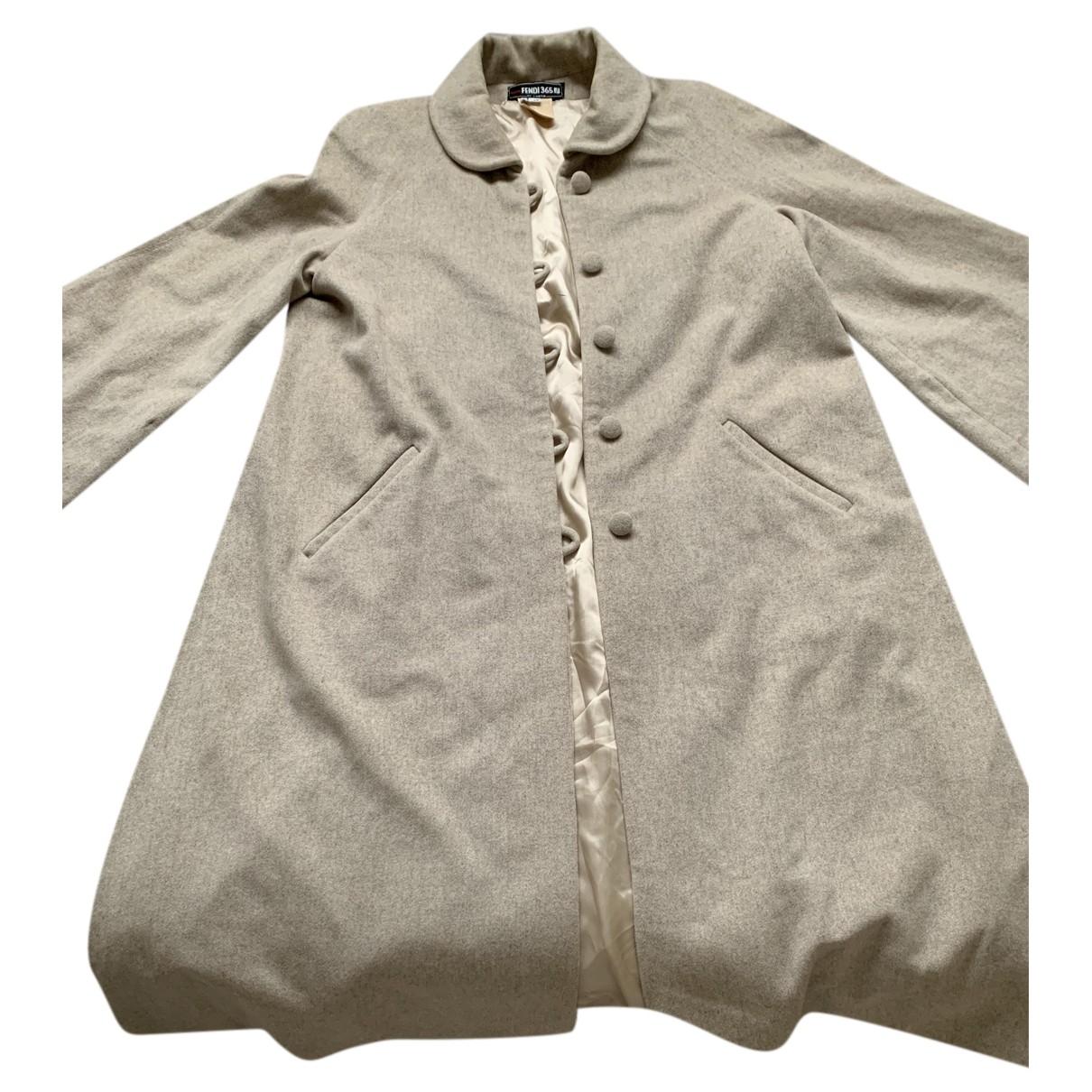 Fendi N Beige Wool coat for Women 42 IT