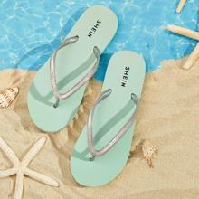 Glitter Detail Toe Post Slippers