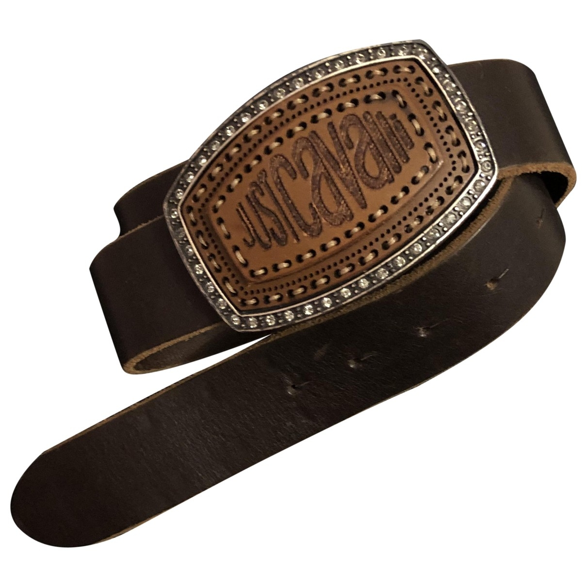 Just Cavalli \N Brown Leather belt for Women 85 cm