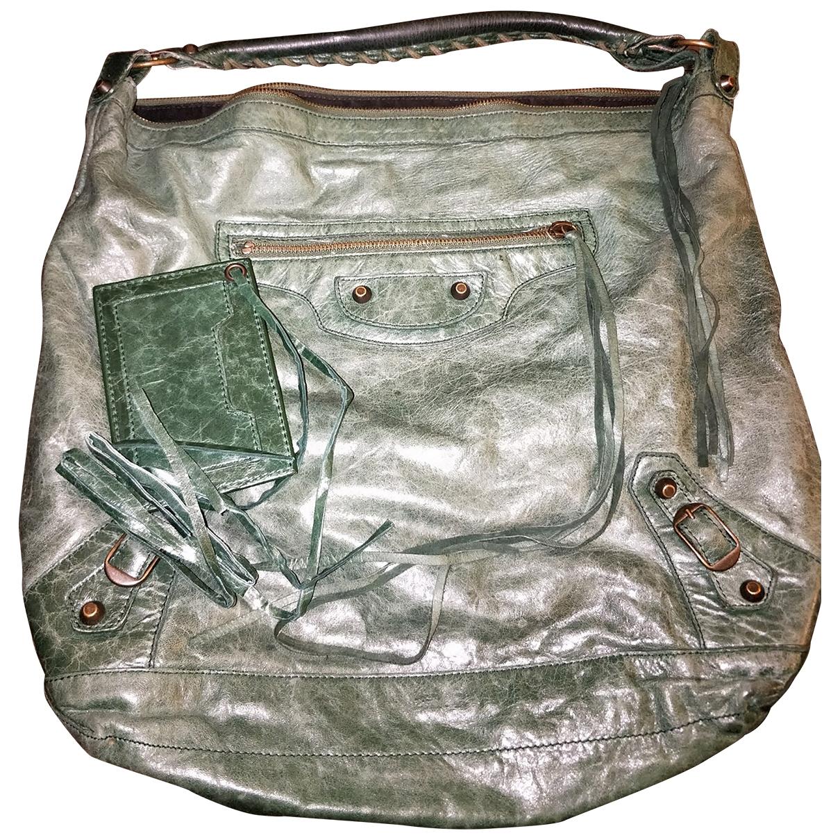 Bolso  Courier XL de Cuero Balenciaga