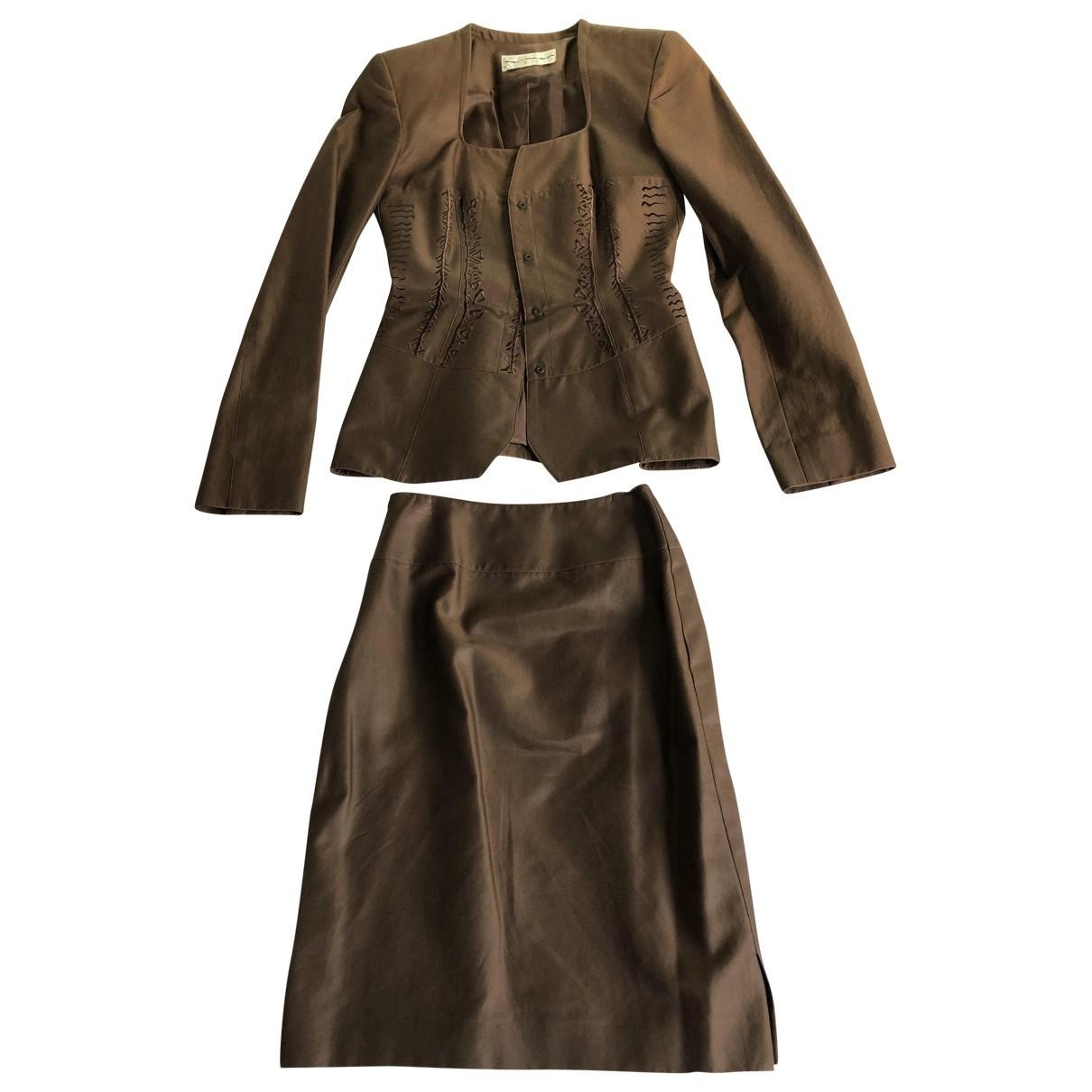 Mugler - Veste   pour femme en coton - marron