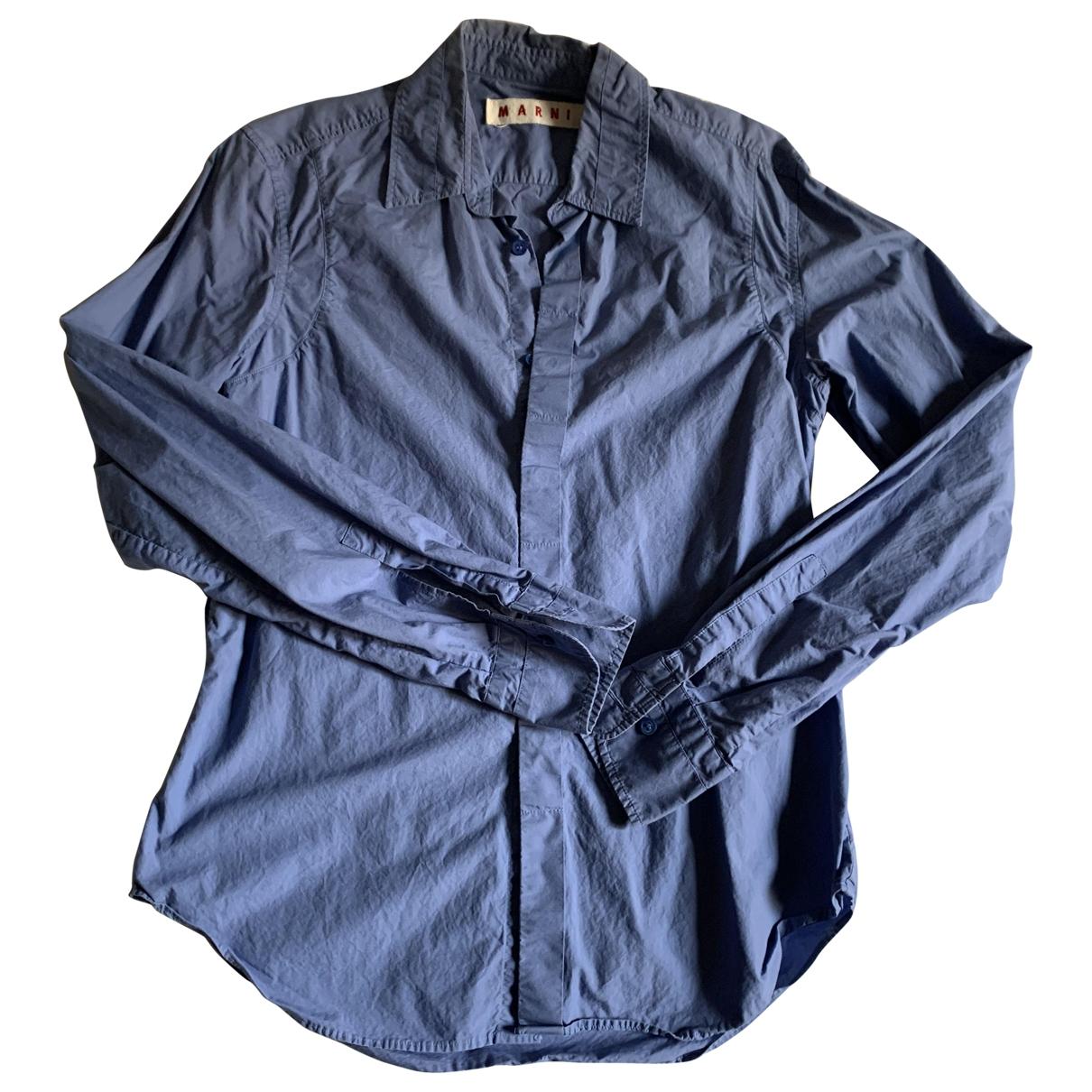 Marni \N Hemden in  Blau Baumwolle