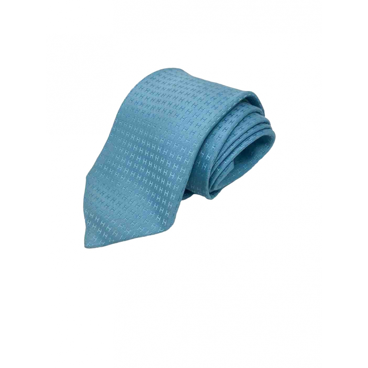 Hermes - Cravates   pour homme en soie - turquoise