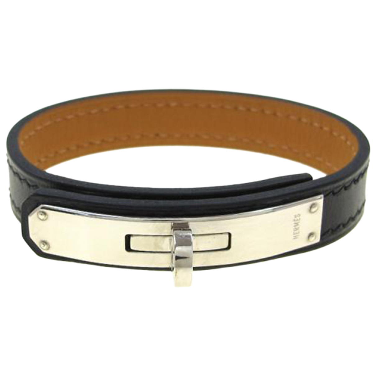 Hermès Kelly Black Leather bracelet for Women N