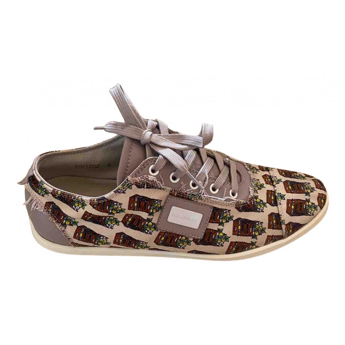 Dolce & Gabbana \N Sneakers in  Beige Leinen