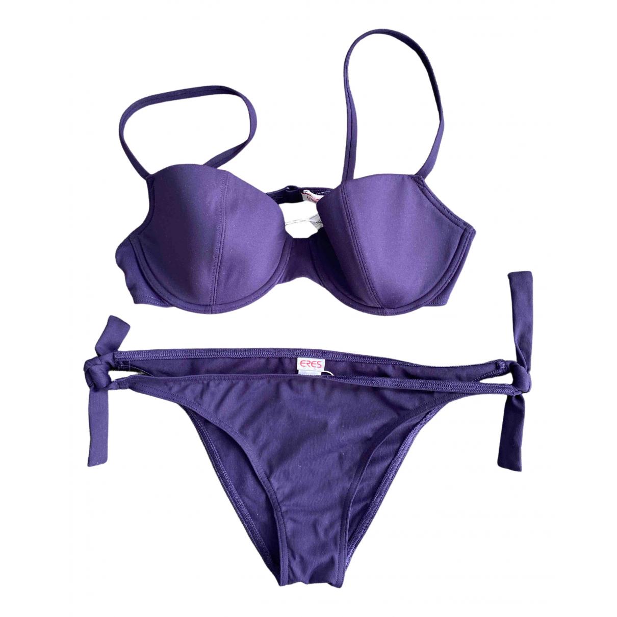 Eres - Bain   pour femme en coton - elasthane - violet