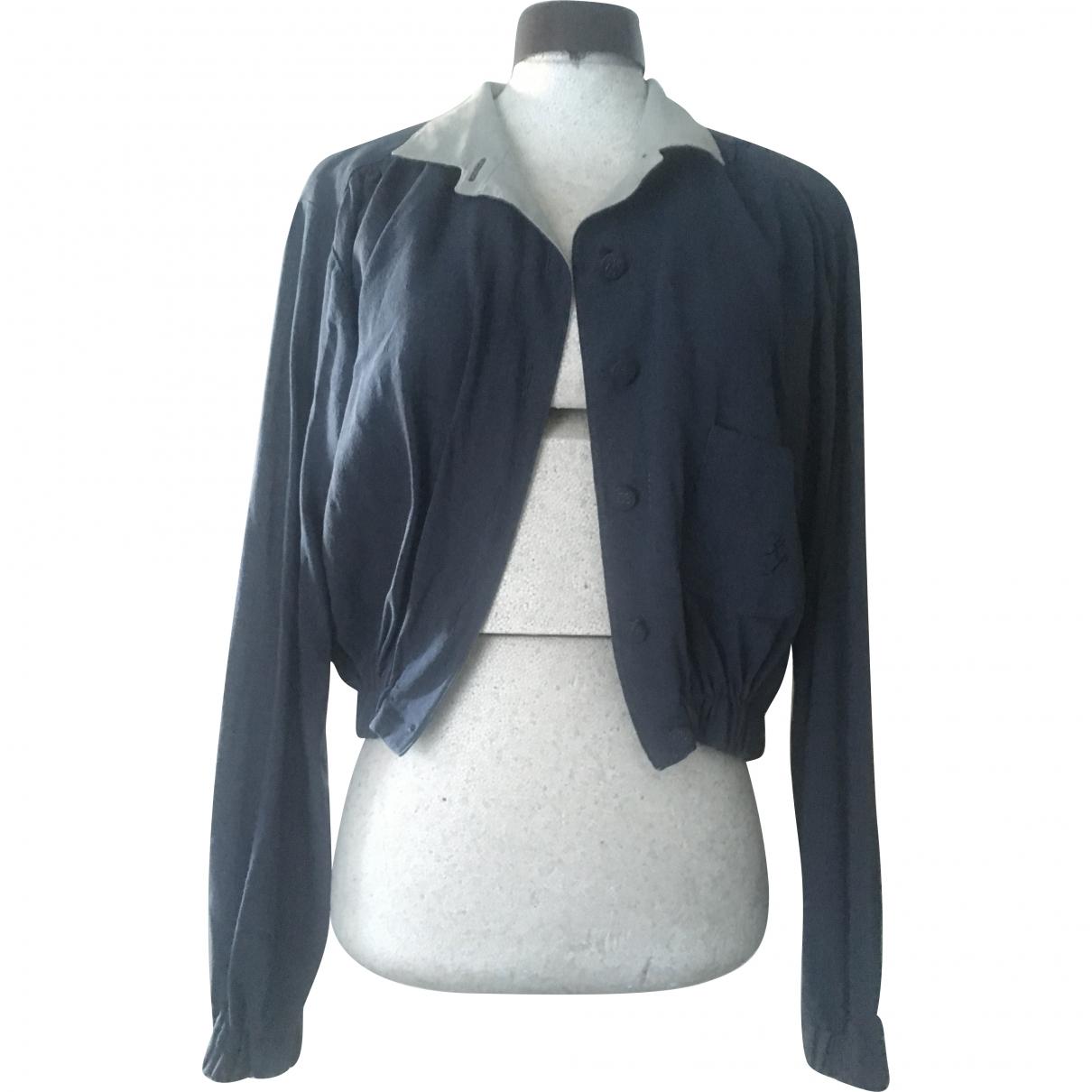 Karl Lagerfeld \N Navy Wool jacket for Women 42 IT