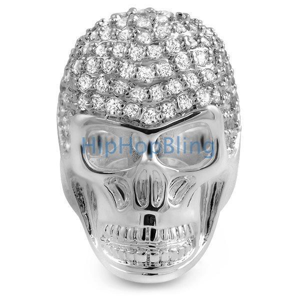3D Skull CZ Custom Mens Bling Bling Ring