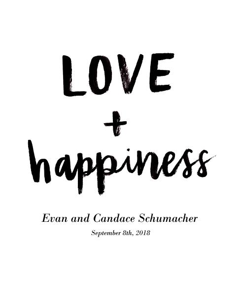Love Framed Canvas Print, Black, 20x24, Home Décor -Love Happiness