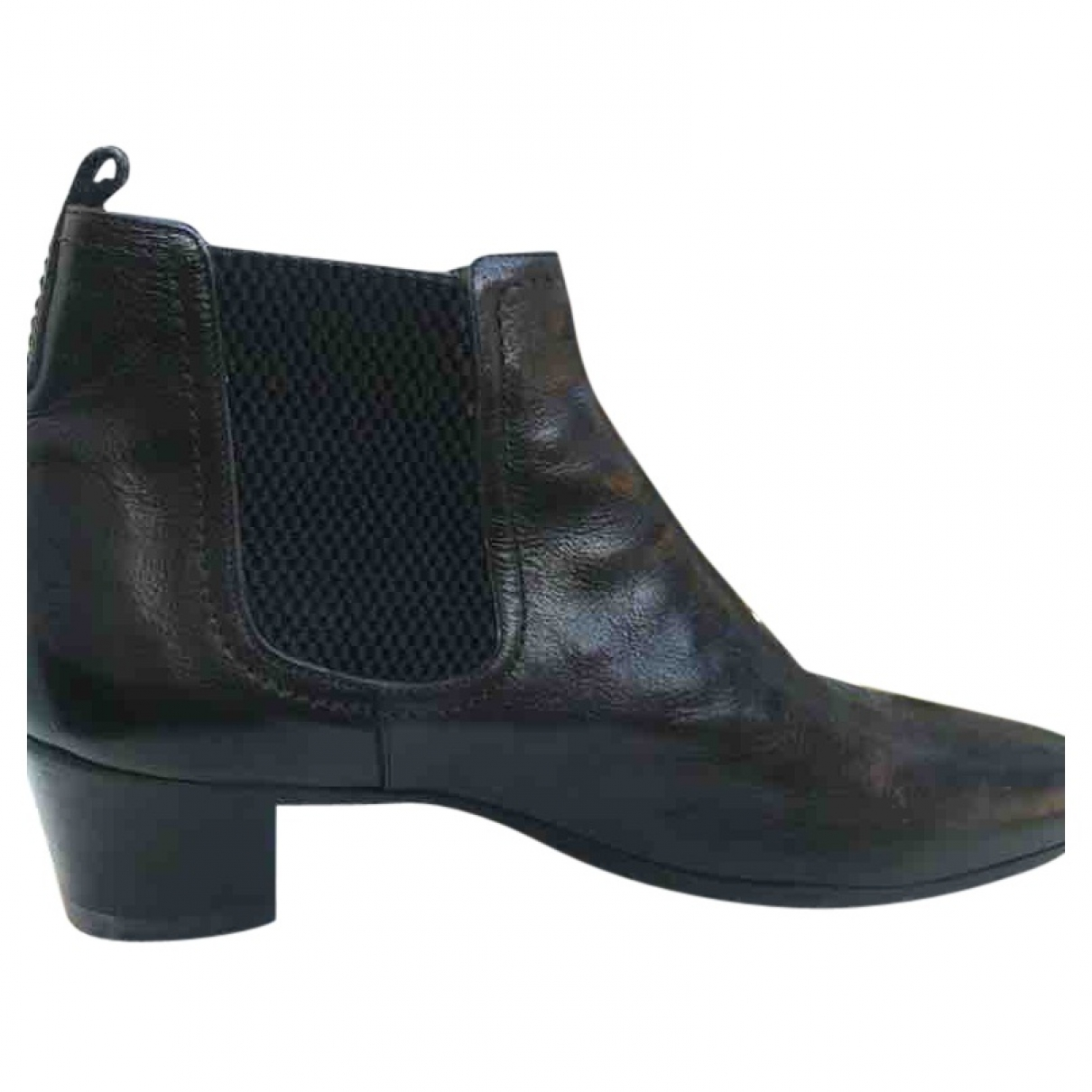 Costume National \N Black Leather Boots for Men 42.5 IT