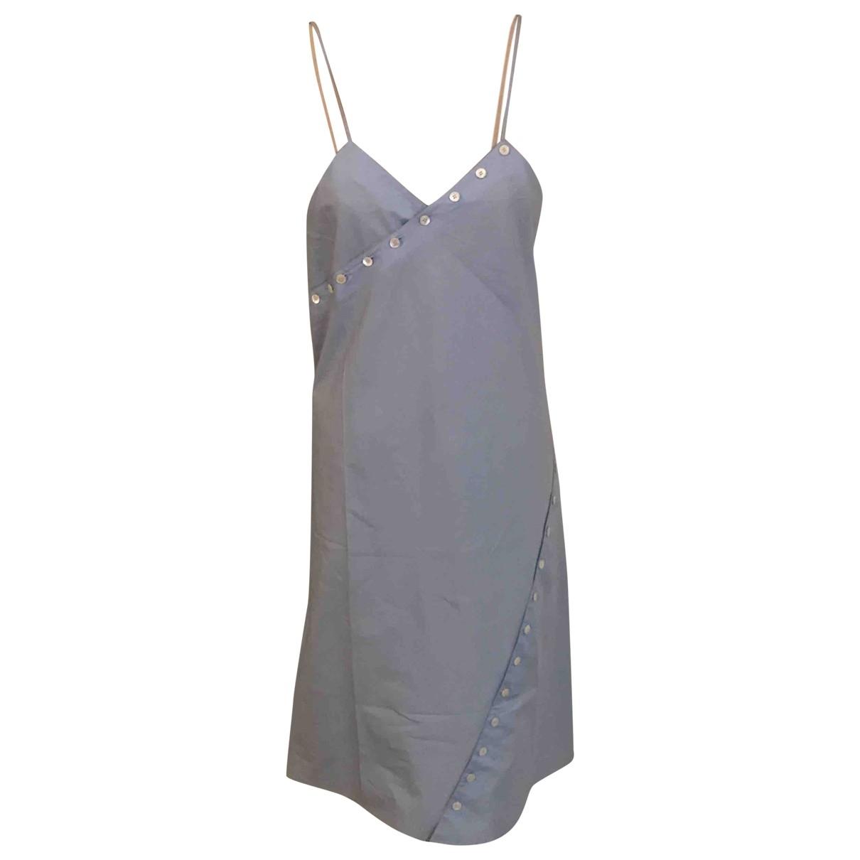 Courrèges \N Blue Cotton dress for Women 38 FR