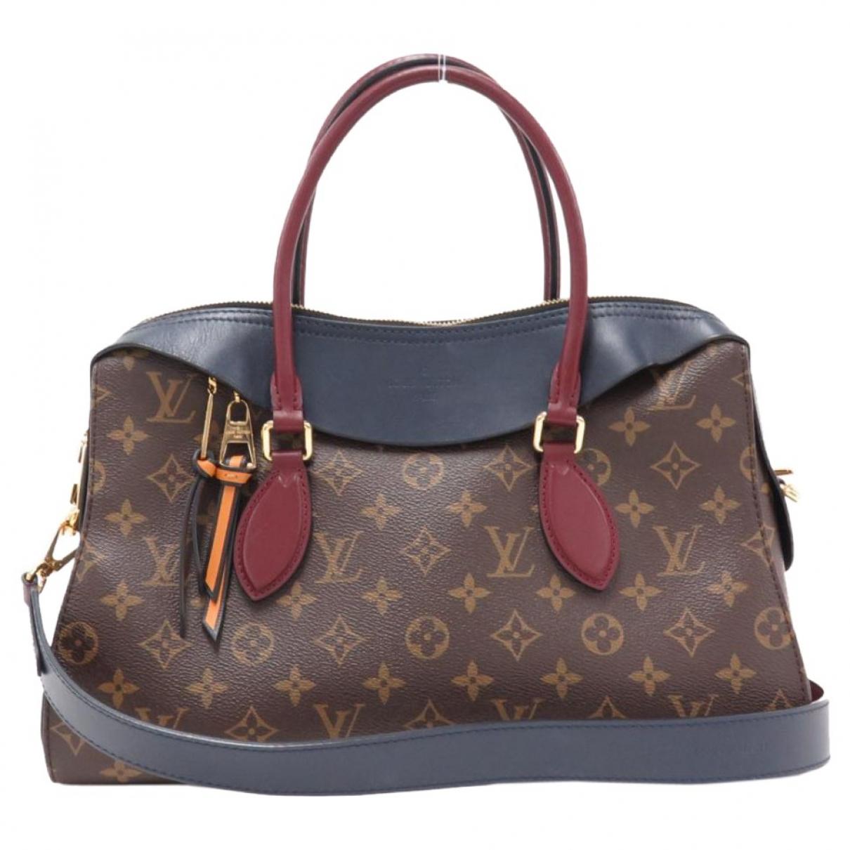 Louis Vuitton - Sac a main Tuileries pour femme en toile - marron