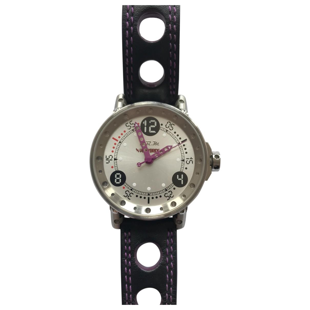 Brm V6-44 Hybride Uhr in  Weiss Stahl