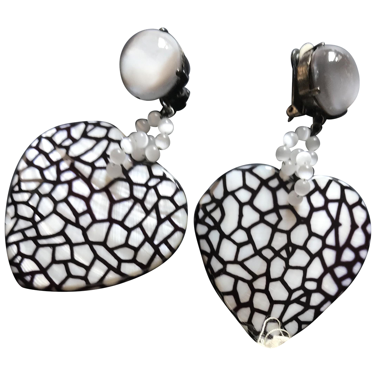 Giorgio Armani N Anthracite Ceramic Earrings for Women N
